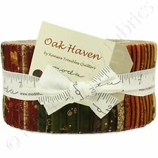 """Moda Oak Haven Jelly Roll Fabric Kansas Troubles 40 2.5x44"""" Quilting Strips Kit"""