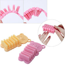 Pink Yellow Bear Shape Nail Art Cleaning Brush Remove Dust Manicure Salon Tools