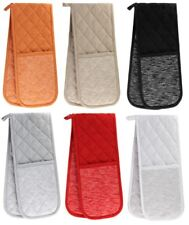 TUSCANY DOUBLE OVEN GLOVES HEAT RESISTANT MITTS OVEN GLOVE 100% COTTON