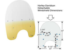 "Memphis Shades Repl. Detachable Windshield 15""H Yellow Harley FLHR 1995-2014"