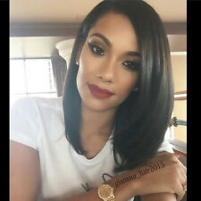 Silky Straight Lace Front Bob Wig Virgin Peruvian Remy Human Hair Full Lace Wigs