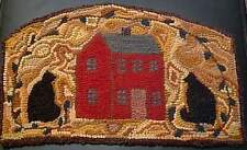 CATS ABOUT THE HOUSE  Primitive Rug Hooking  KIT WITH #8 CUT WOOL