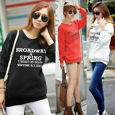 Chic English Letters Removable Collar Womens Sweatshirt Sweats Outwear Tops 7119