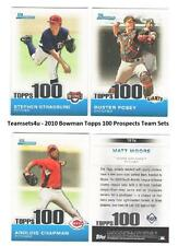 2010 Bowman Topps 100 Prospects - WASHINGTON NATIONALS Team Set