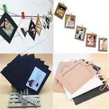 10PCS Modern Paper Photo DIY Wall Hanging Frame Album Rope Clip Set Home Decor