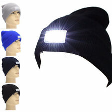 Hunting Cap Beanie Hat Camping 5-LED Light with 2 Batteries for Running Fishing
