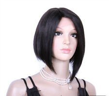 Women Silk Straight 100% Remy Human Hair Lace Front /Full Lace Wig Baby Hair Wig