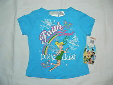 Licd.Disney Fairies TINKERBELL Cotton T-shirt - Sz 3, 4 -Imported from USA -BNWT