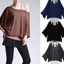 Oversized Women's Twinset Casual Loose Batwing Sleeve T-shirt Tank Top Vest