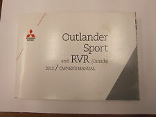 2013 OUTLANDER SPORT RVR CANADA ENGLISH OWNERS OWNER'S MANUAL CANADA MR REMOTES