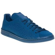 New Mens adidas Blue Stan Smith Primeknit Textile Trainers Court Lace Up