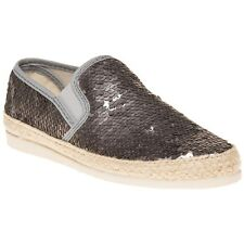 New Womens SOLE Metallic Grey Zella Synthetic Shoes Espadrilles Slip On