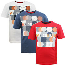 Ben Sherman Boys Kids Graphic Cotton Short Sleeve Tee Crew T-Shirts BSH0002T