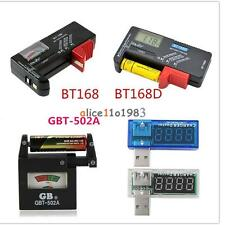 Universal AA AAA C D 9V 1.5V Button Cell Battery Volt Tester Checker Indicator
