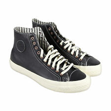 PF Flyers Rambler Hi Mens Black Leather High Top Lace Up Sneakers Shoes