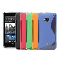 NEW S-Line Wave Soft Gel Skin TPU Case Cover Skin for HTC One M7-Pick Your Color