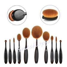 Toothbrush Eyebrow Foundation Eyeliner Oval Cream Puff Makeup Brushes Tool - LD