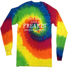 Funny saying tie dye shirt long sleeve tie dyed tee shirt for men