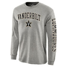Vanderbilt Commodores Gray Distressed Arch Over Logo Long Sleeve Hit T-Shirt