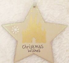 DISNEY PRINCESS CASTLE HANDMADE PERSONALISED CHRISTMAS TREE DECORATION STAR GIFT