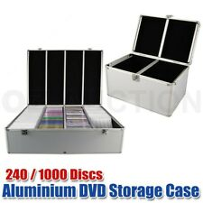 Aluminium CD Case DVD Case Bluray Lock Storage Case Box 240 / 1000 Discs