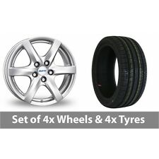 "4 x 14"" Alutec Blizzard Silver Alloy Wheel Rims and Tyres -  185/55/14"