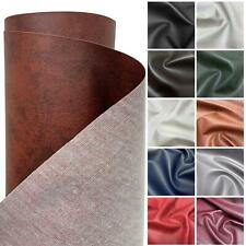HEAVY FEEL FAUX LEATHER LEATHERETTE VINYL PVC UPHOLSTERY MATERIAL FABRIC 1 metre
