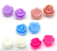 "Wholesale HOT! Mixed Resin Rose Embellishments Jewelry Findings 10mm( 3/8"")"