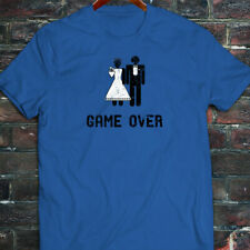 Game Over Marriage Funny Meme Humor Mens Blue T-Shirt