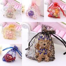 Wholesale 100pcs Organza Fashion Jewelry Candy Bag Party Wedding Gift Bags Pouch