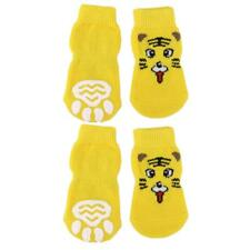 Tiger Pattern Pet Dog Puppy Cat Socks with Cute Paw Prints indoor Shoes S--XL
