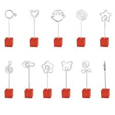 Red Cube Wire Resin Base Photo Holder Stand Place Card Note Memo Clip Display