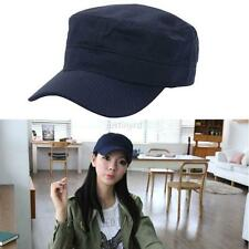Chic New Men Womens Adjustable Army Plain Hat Cadet Military Baseball Sport Cap