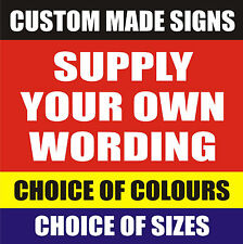 CUSTOM MADE BESPOKE SIGN - Parking Advertising Warning Security Business Signs