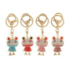 Cute Crystal Animal Frog Keyring Keychain Rhinestone Pendant Car Key Ring Chain