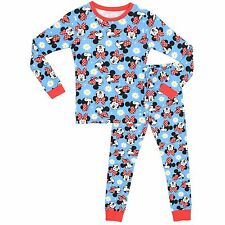 Disney Minnie Mouse Snuggle Fit Pyjamas | Girls Minnie Mouse Pyjama Set | NEW