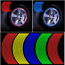 16 Strips Bike Motorcycle Car Wheel Reflective Rim Tape Decal Reflective Sticker