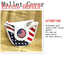CRAFTSMAN GOLF Mallet Putter Cover Magnetic USA Flag Headcover Mini Defect Goods