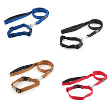 Walking Nylon Flat Belt Classic Style Adjustable Pet Lead Collar Dog Leashes