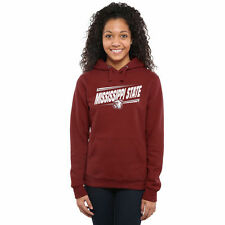 Mississippi State Bulldogs Women's Maroon Double Bar Pullover Hoodie