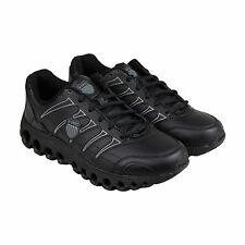 K-Swiss Grancourt II SR Mens Black Leather Athletic Lace Up Training Shoes