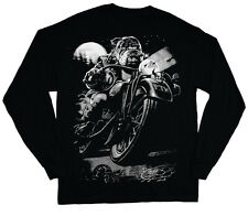 long sleeve t-shirt for men biker bulldog t-shirt english bully dog breed