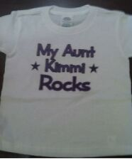 My Aunt Rocks funny new toddler shirt personalized tshirt aunt clothes clothing