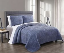 Full//Queen 3-PC Simmon Majestic Coverlet / Bedspread Set 100% Cotton Quilt Set