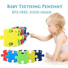Silicone Puzzle Baby Nursing Teething Pendant For Necklace BPA-Free For Mum A3D2