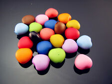 FREE Lot Child Jewelry Mixed colors Acrylic Heart Spacer Charms Loose Beads 10mm