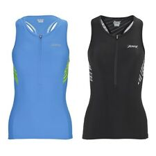 Zoot Women's Performance Tri Tank -Reflective -Pockets -Breathable-Triathlon Top