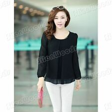 New Fashion Womens Loose Chiffon Blouse Tops Korean Shirt Lady Casual Women Sexy
