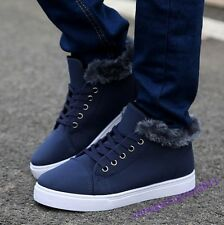 Hot Sale Mens SHoes Lace Up Sport Fur Furry Winter Warm New Fashion Flats Casual