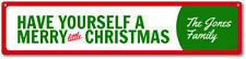 Merry Little Christmas Sign, Custom Have Yourself A Merry Little - ENSA1000024